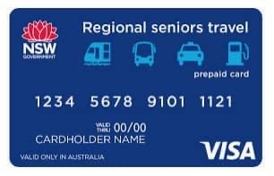 Regional Seniors Travel Cards